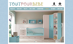 Maquette site Tout Pour Bébé