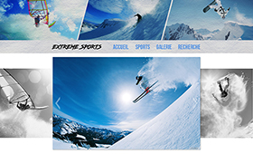Maquette site Extreme Sports